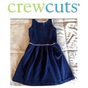 Girls Navy/White size 8 CrewCut dress